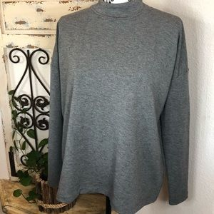 Ann Taylor gray mock neck sweatshirt